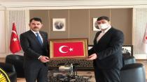Bakan Kurum ve Başkan Oğuz projeleri konuştu
