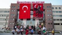 """KEÇİÖREN'DEN """"HAREKETSİZ KALMA SAĞLIKLI KAL"""" MESAJI"""